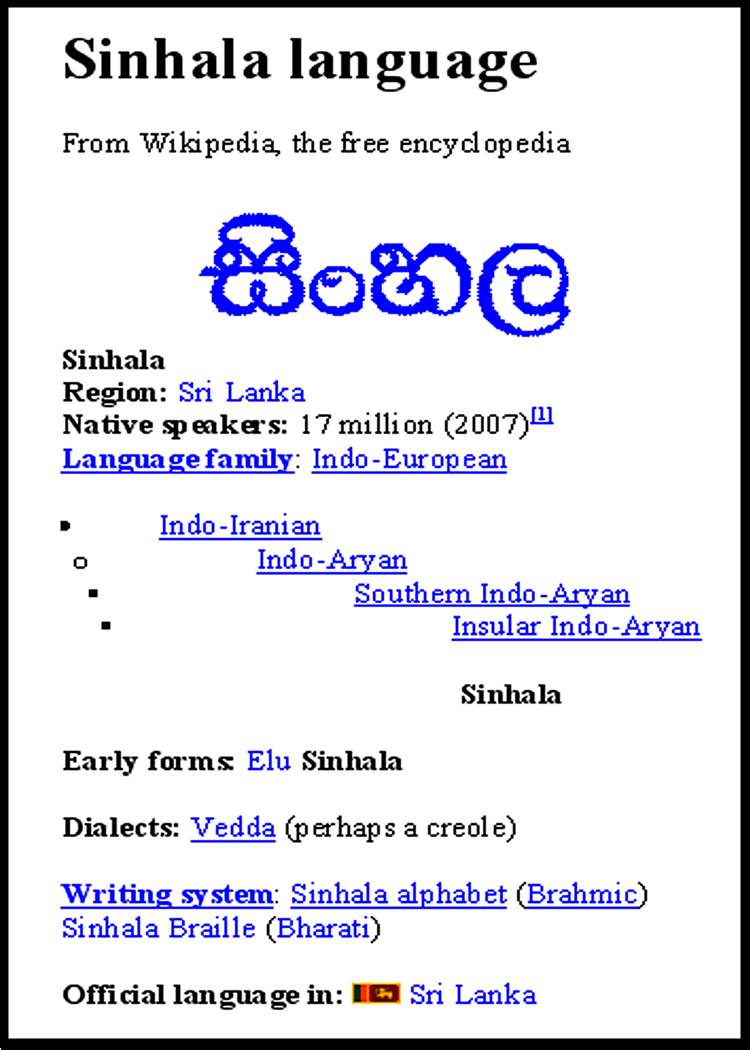 Learn Sinhalese/Sinhala - Sinhalese Books, Courses, and ...