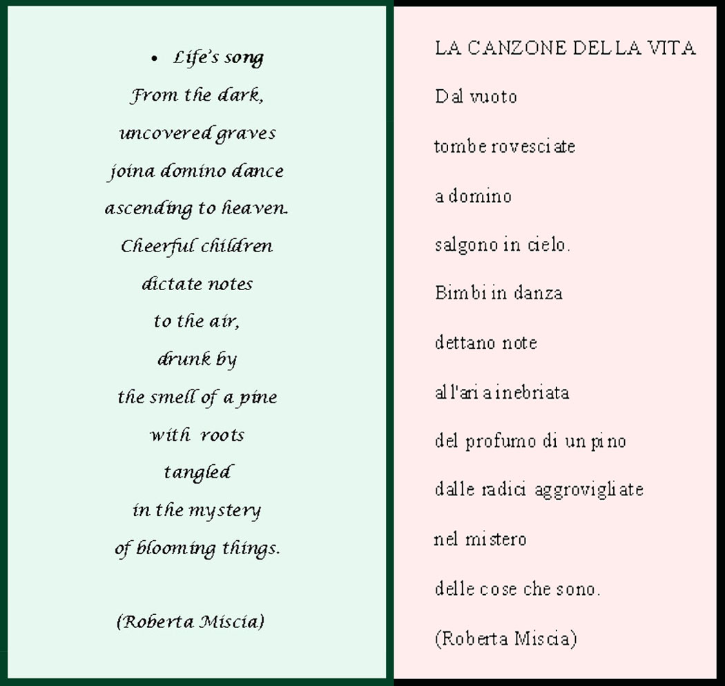 English In Italian: Roberta Miscia's Poem For Her Dad, Mario's 98th Birthday