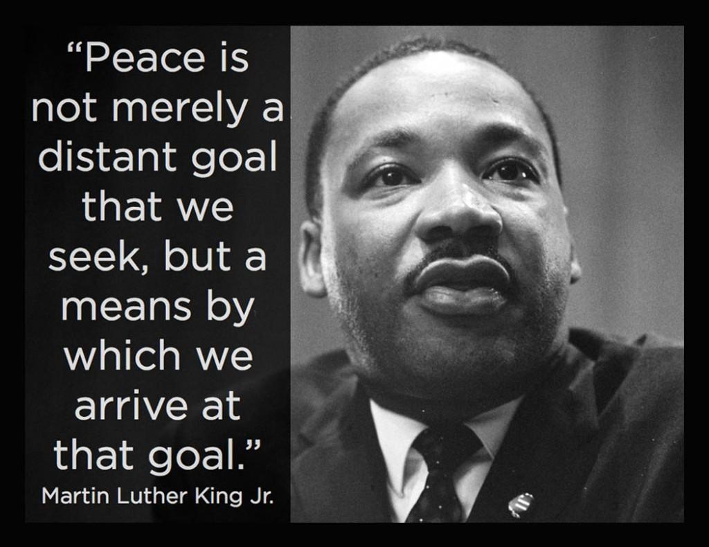 martin luther king's policy of peaceful Martin luther king, jr on war and peace there is a significant and profound change in american life and policy such of martin luther king, jr.
