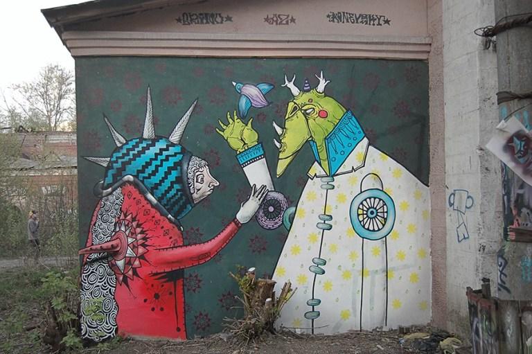 modern art and urban art in Russia