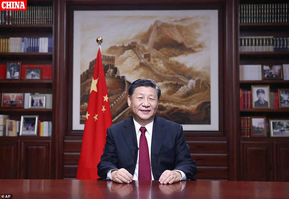 Chinese President Xi Jinping delivers a New Year's speech as Beijing marks the start of 2020