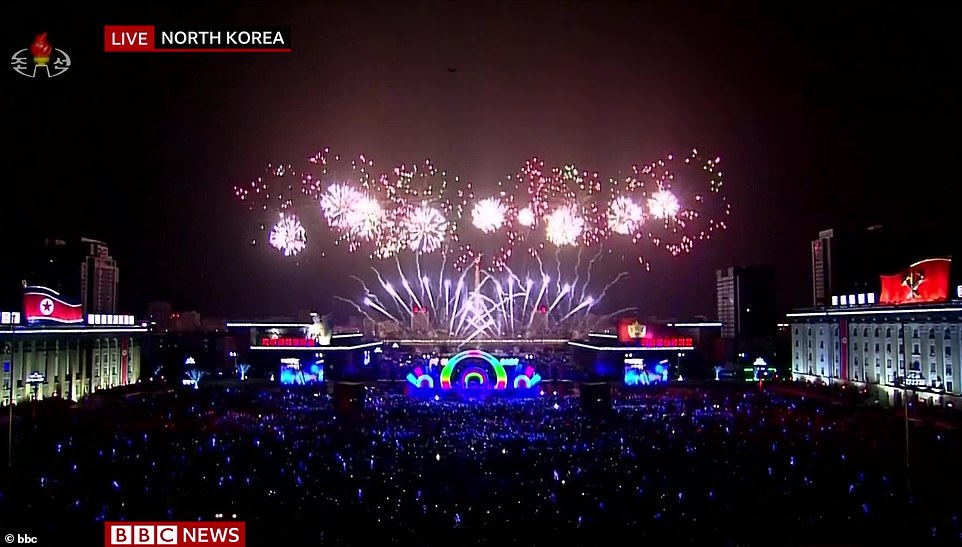 Fireworks exploded over Pyongyang in North Korea as the country became the latest to join in with New Year celebrations, with millions celebrating the end of the decade across the world