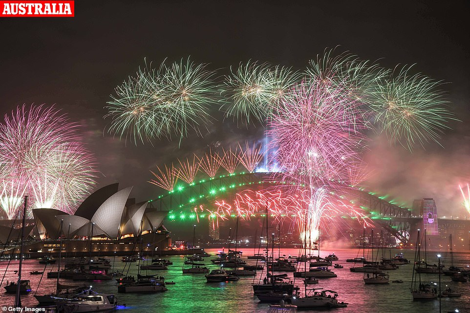 Sydney went ahead with its New Year firework display despite calls for it to be cancelled amid wildfires raging across the country, with furious Australians describing it as 'slap in the face'
