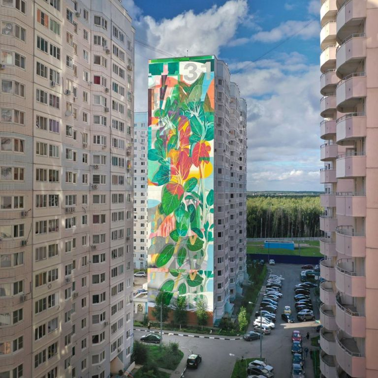 huge murals in Russia .