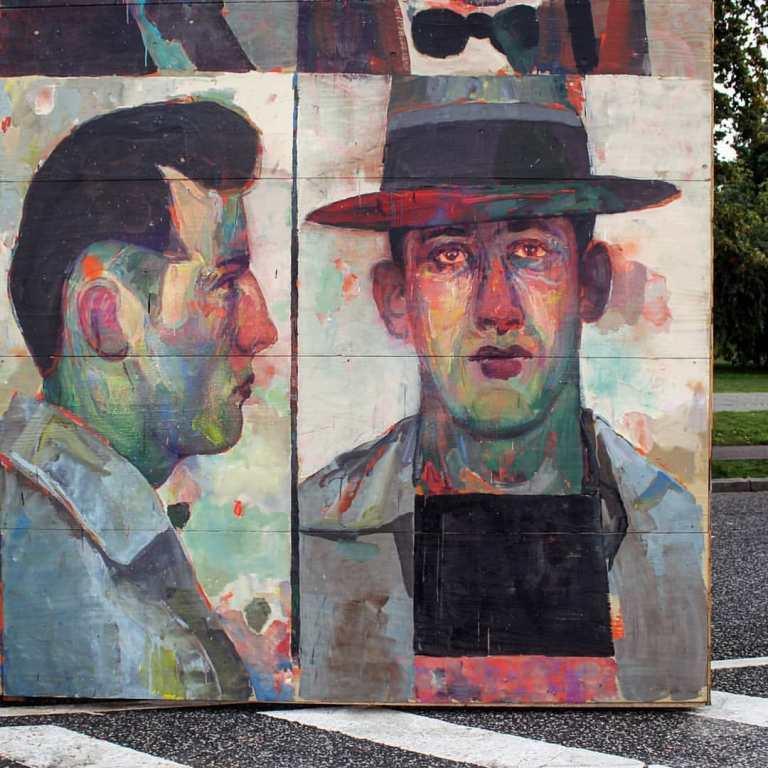 Morik street artist from russia. portraits