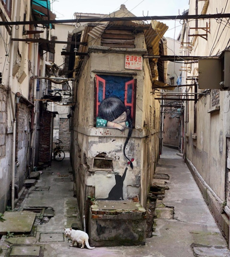 Seth Globepainter in Shanghai, China.