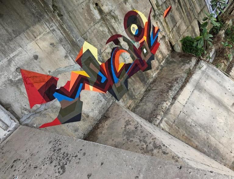 masterpiece of abstract graffiti in Russia