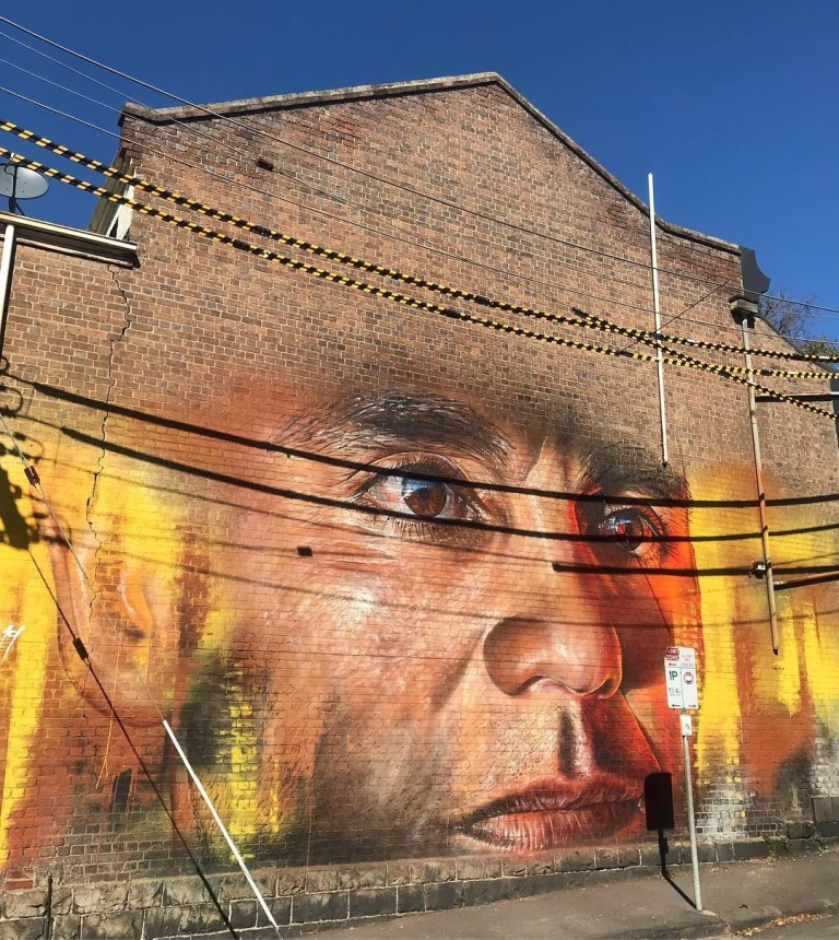 urban art best 2019 Adnate in Melbourne, Australia