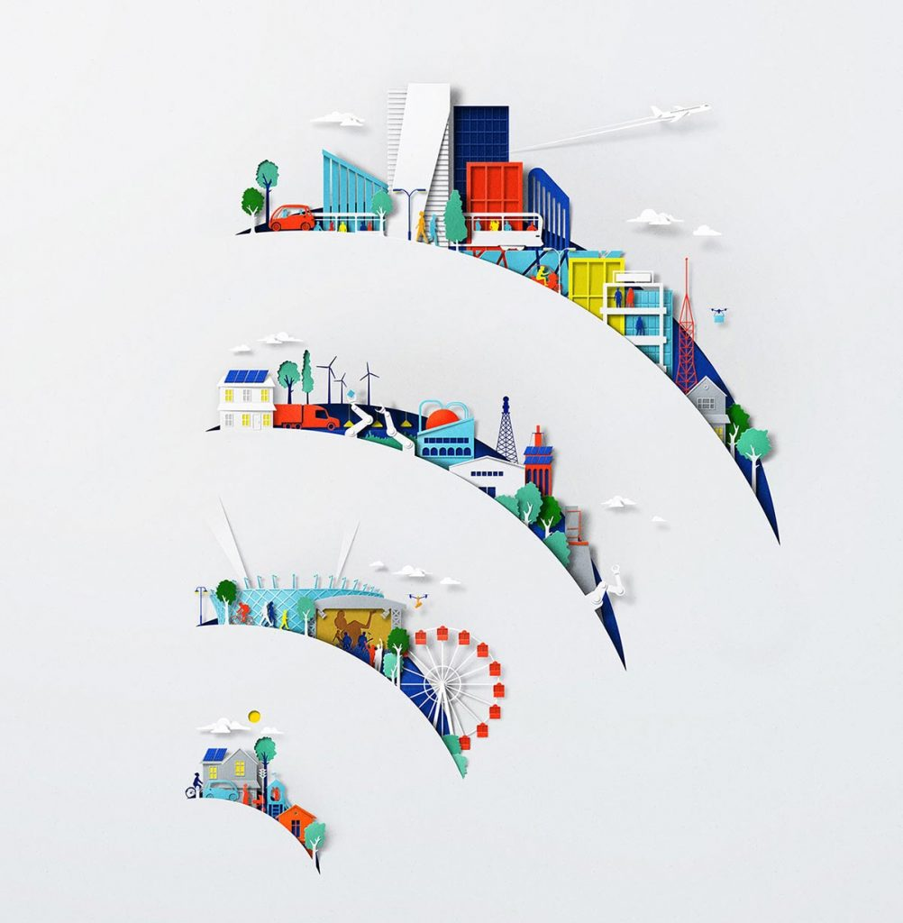 Awe-Inspiring Nokia 5G Paper Cut Creative Illustrations by Eiko Ojala