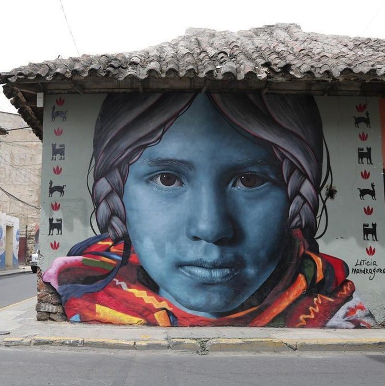 Leticia Mandragora in Cochabamba, Bolivia. Best urban art 2019