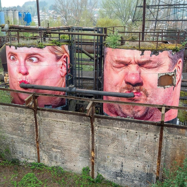 Mentalgassi in Völklingen,Germany. famous street artist