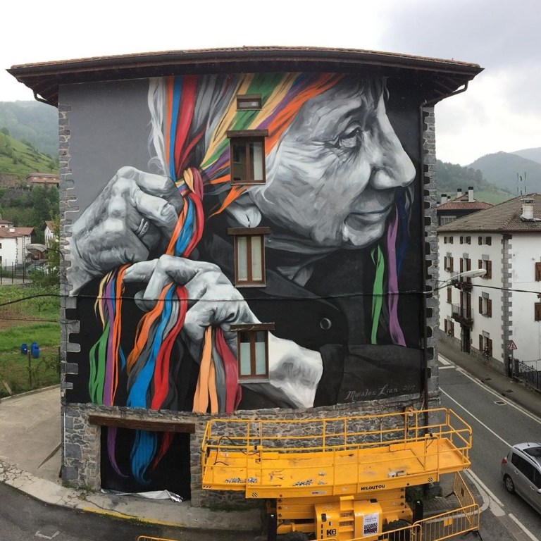 Murales Lian in Leitza, Spain