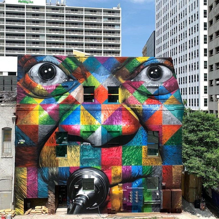 best urban art Eduardo Kobra in New Orleans, Louisiana, USA