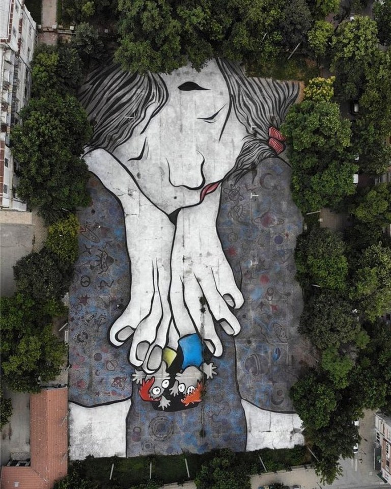 urban artwork by Ella & Pitr in Plovdiv, Bulgaria