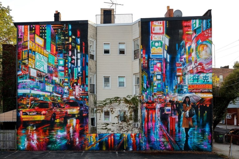 Dan Kitchener aka DANK in Jersey City, New Jersey, USA