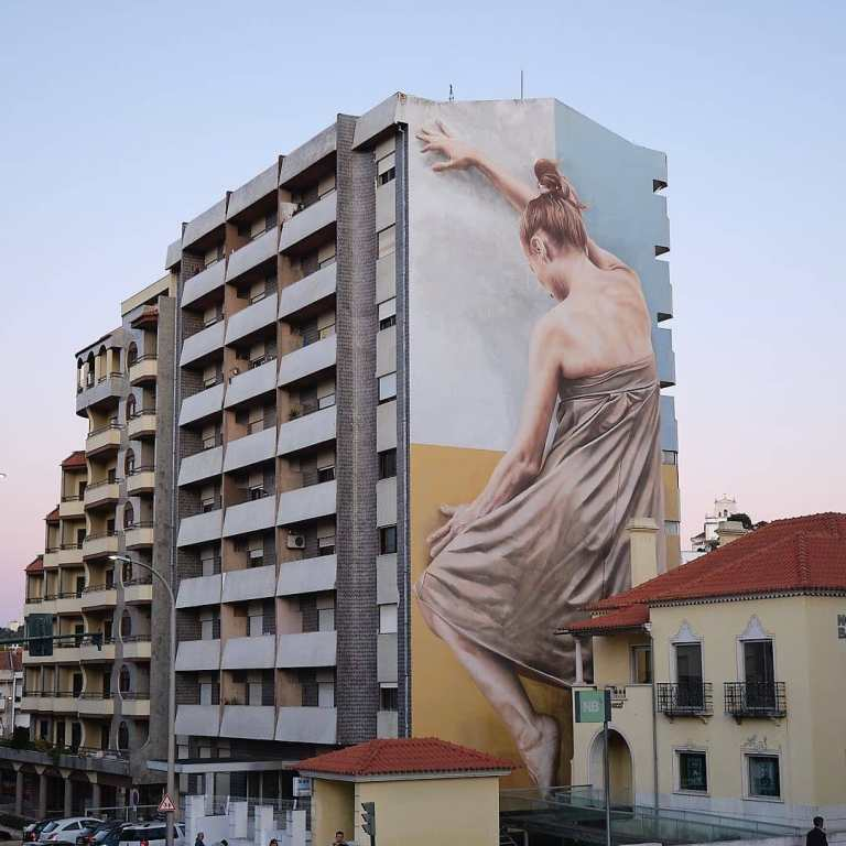 Guido Van Helten in Leiria, Portugal