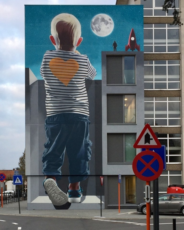 street art mural by Smates in Geel, Belgium