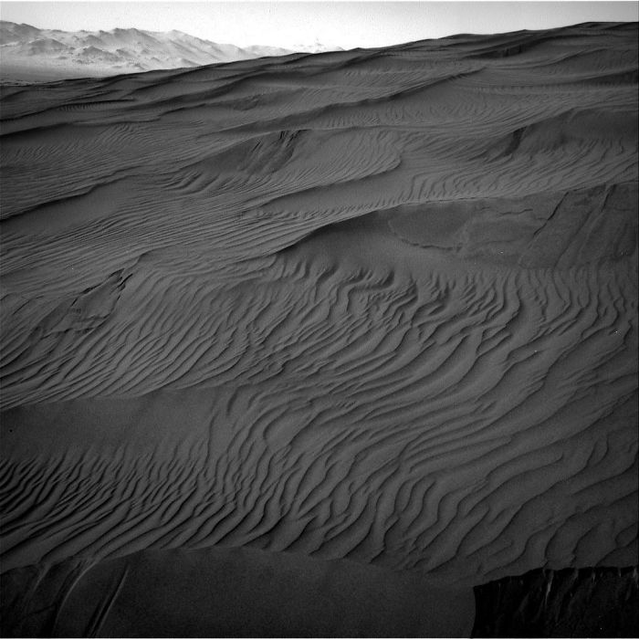 "Curiosity Arrived At This Active Sand Dune Named ""Gobabeb"", Which Is Part Of A Larger Dune Field Known As ""Bagnold"""