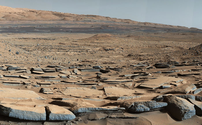 Strata At Base Of Mount Sharp